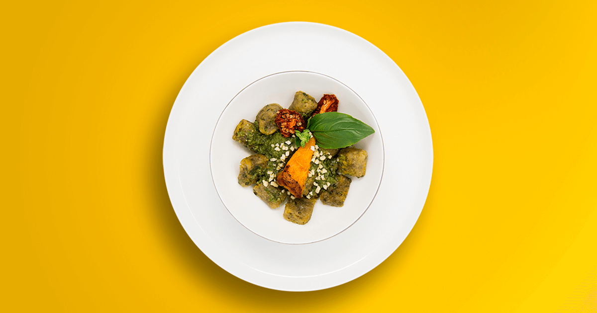 Pumpkin Gnocchi with Hazelnut Pesto