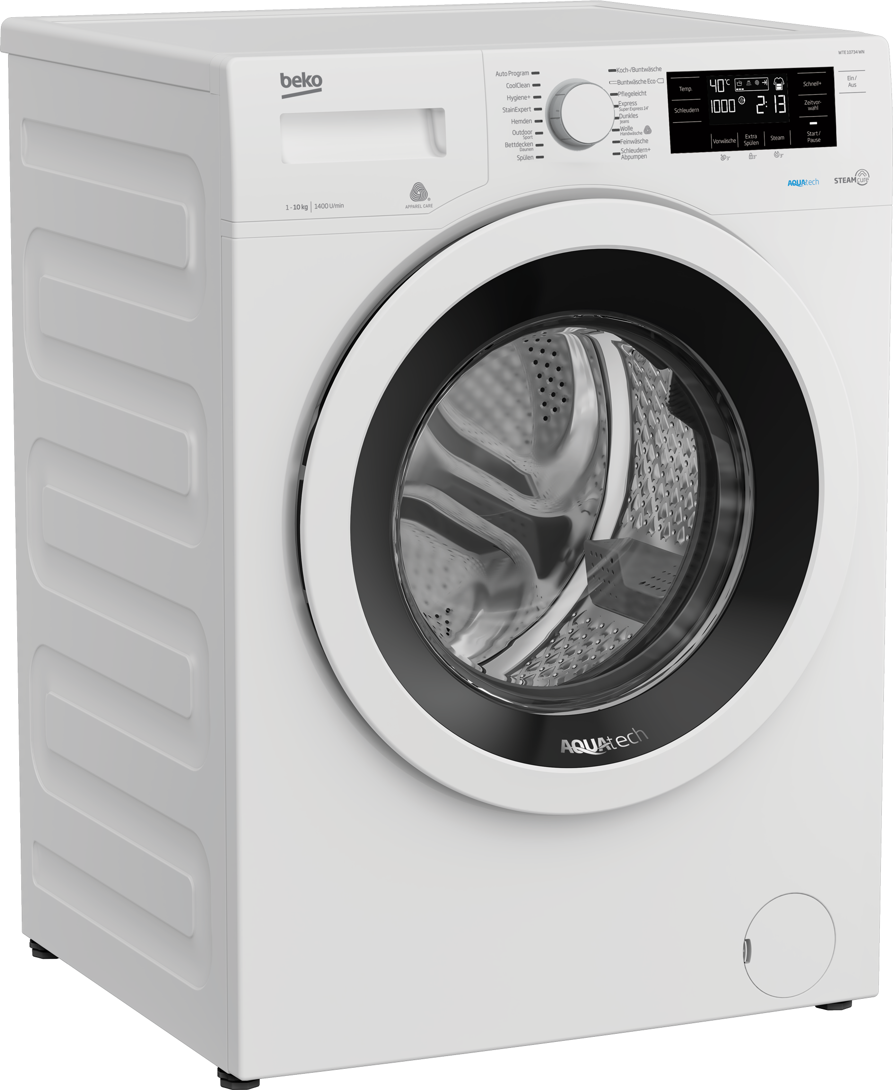 Freestanding Washing Machine (10 kg, 1400 rpm) WTE 10734 WN