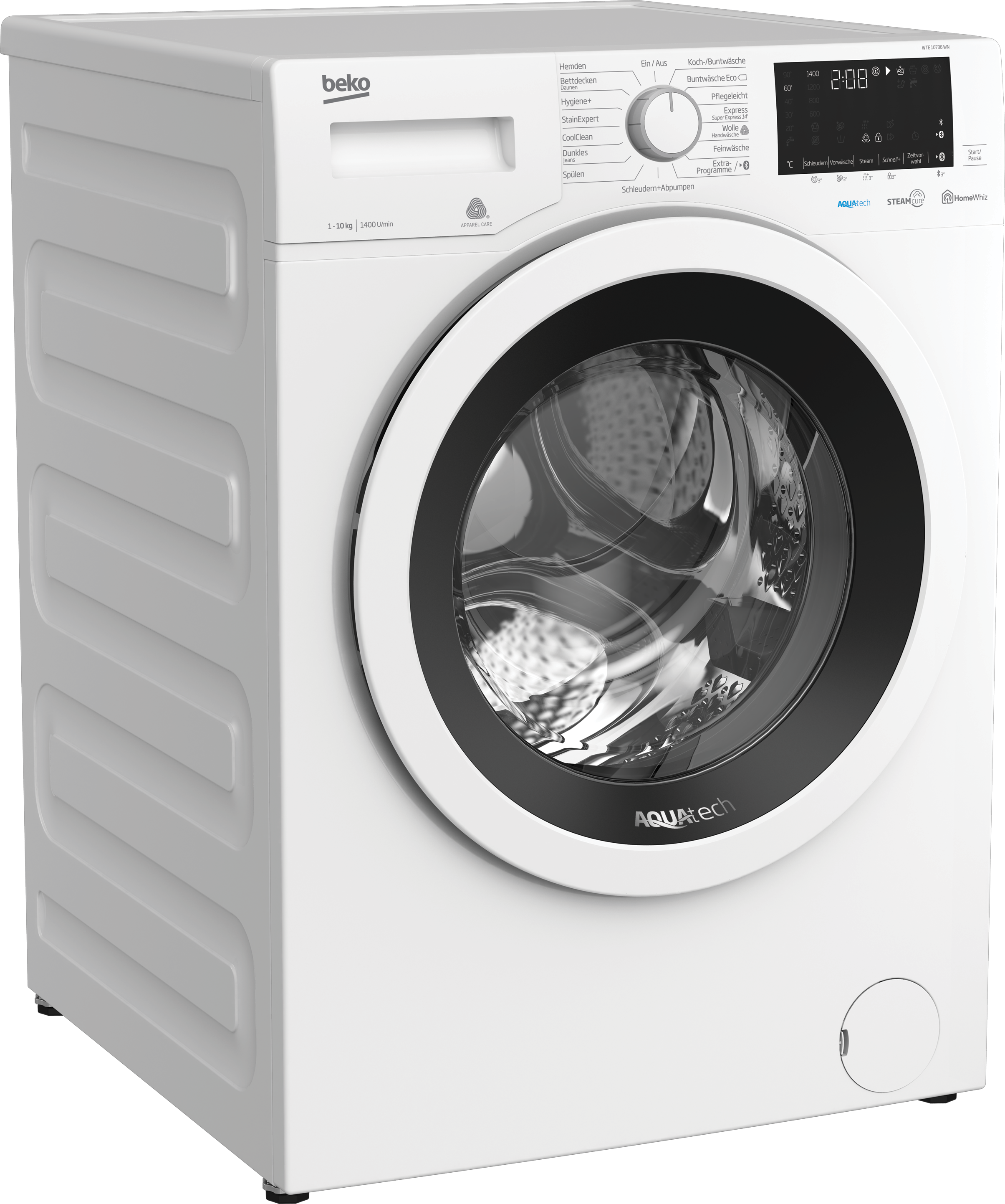 Freestanding Washing Machine (10 kg, 1400 rpm) WTE 10736 WN