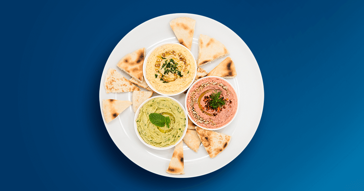 Hummus, Rote- Bete-Hummus & Avocado | Eat Like a Pro
