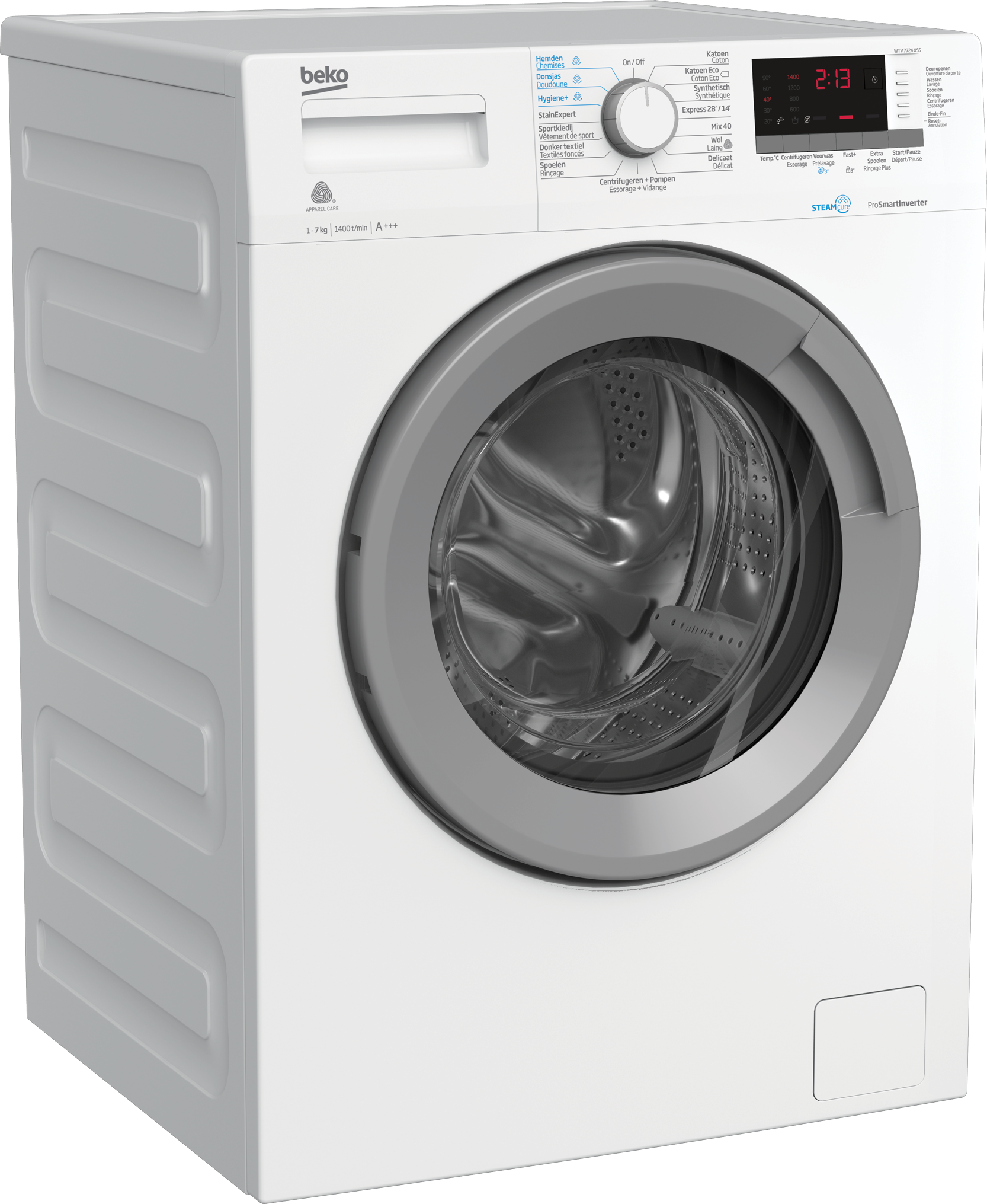 Freestanding Washing Machine (7 kg, 1400 rpm) WTV 7724 XSS