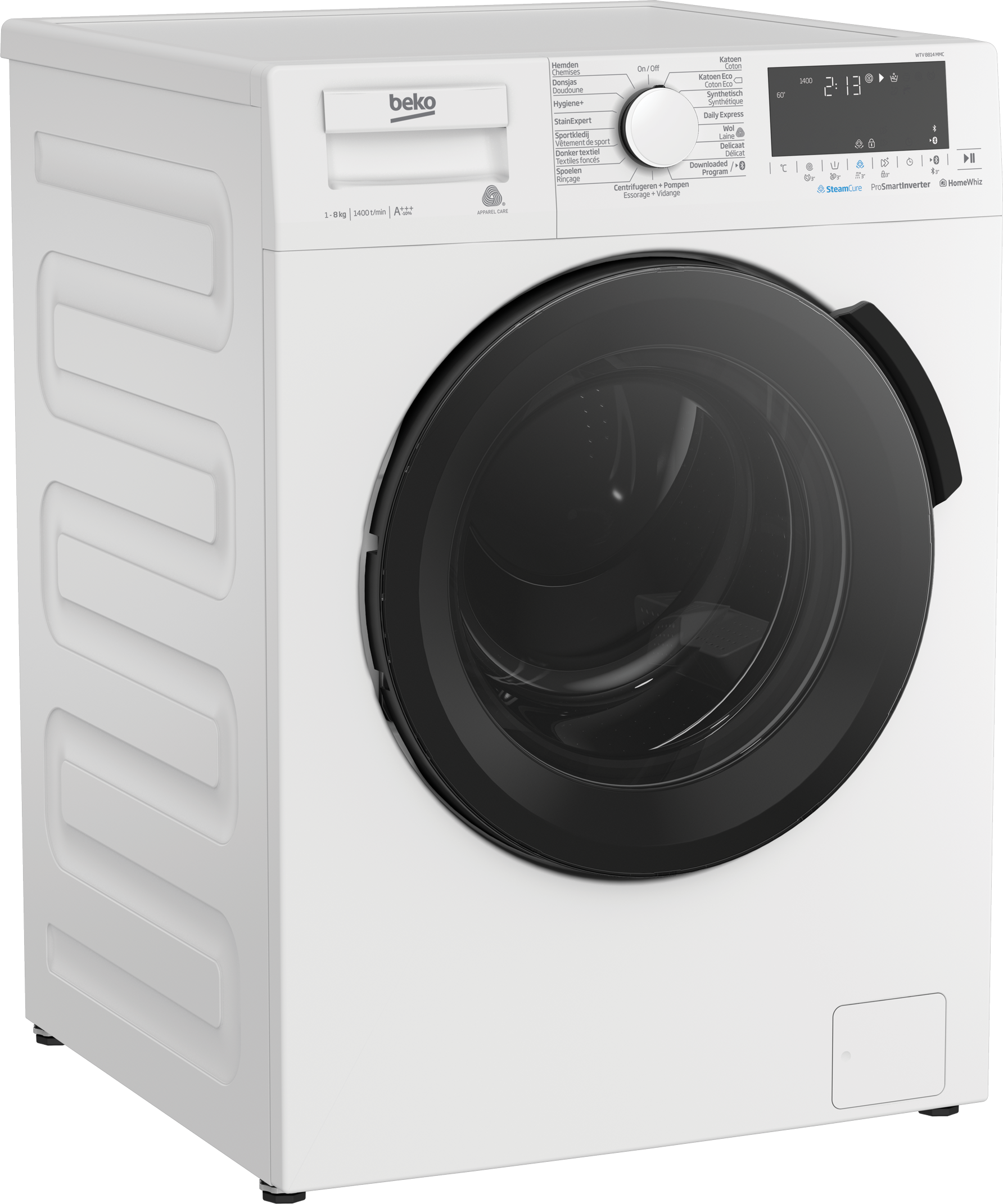 Freestanding Washing Machine (8 kg, 1400 rpm) WTV 8814 MMC