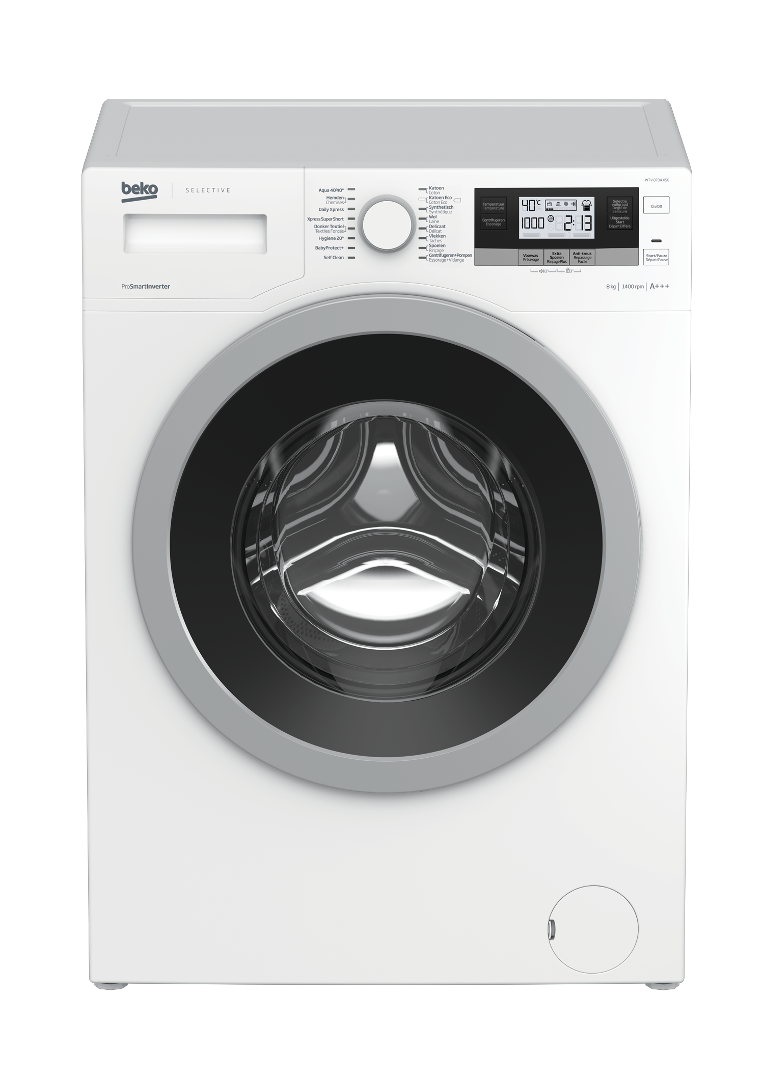 Freestanding Washing Machine (8 kg, 1400 rpm) WTV 8734 XS0