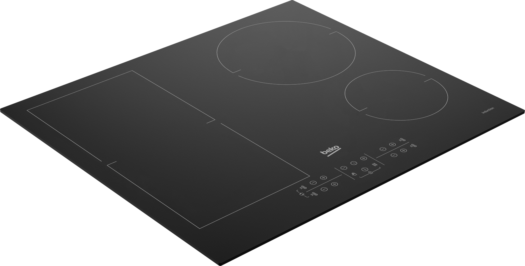 60 cm Induction Table de cuisson encastrée ( 4 zones à induction avec 1 Flexizone ) HII 64200 FMT