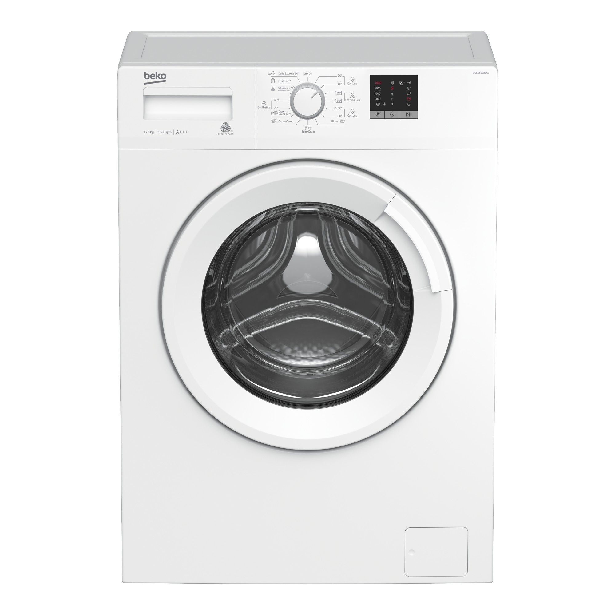 Freestanding Washing Machine (6 kg, 1000 rpm) WUE6511XWW