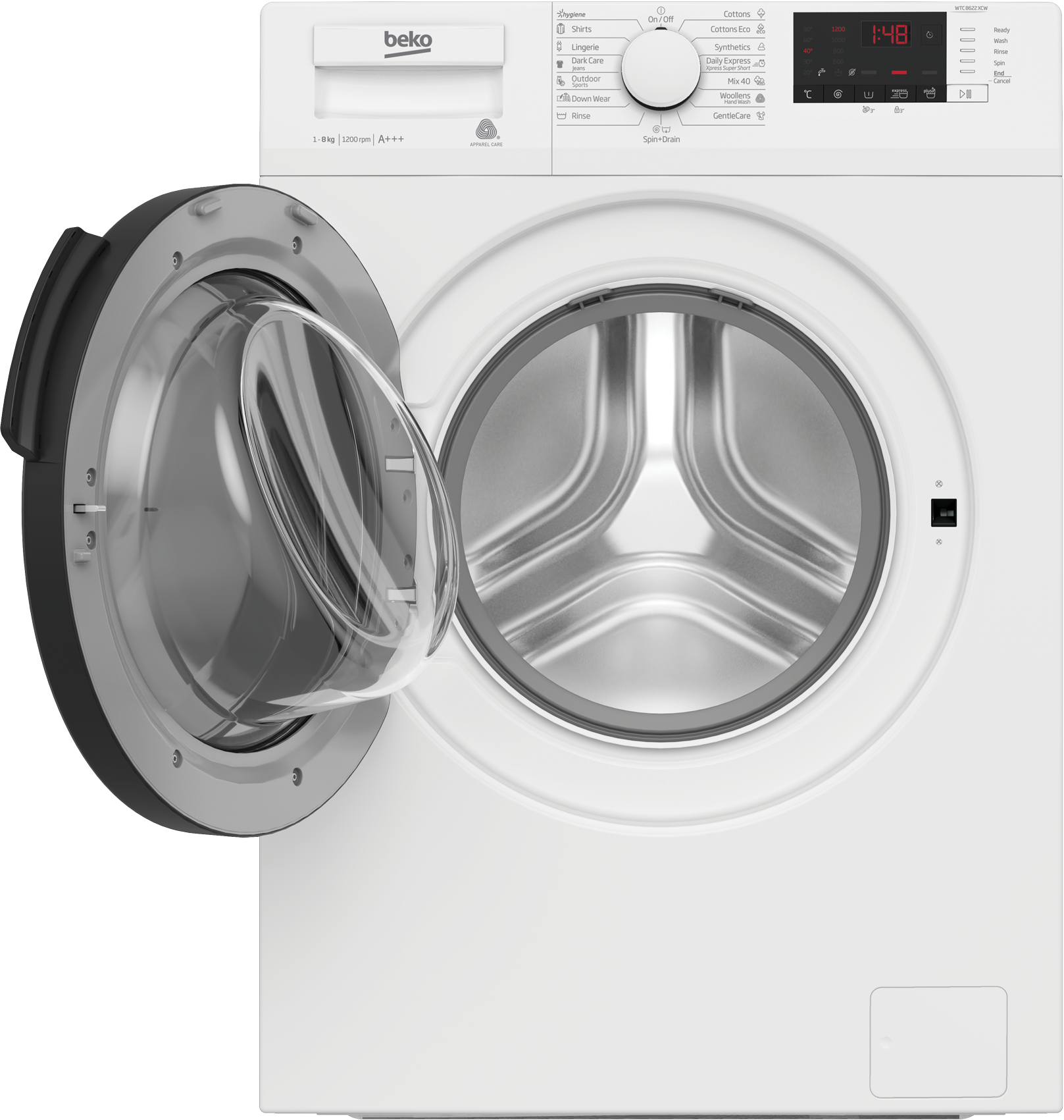 Freestanding Washing Machine (8 kg, 1200 rpm) WTC 8622 XCW