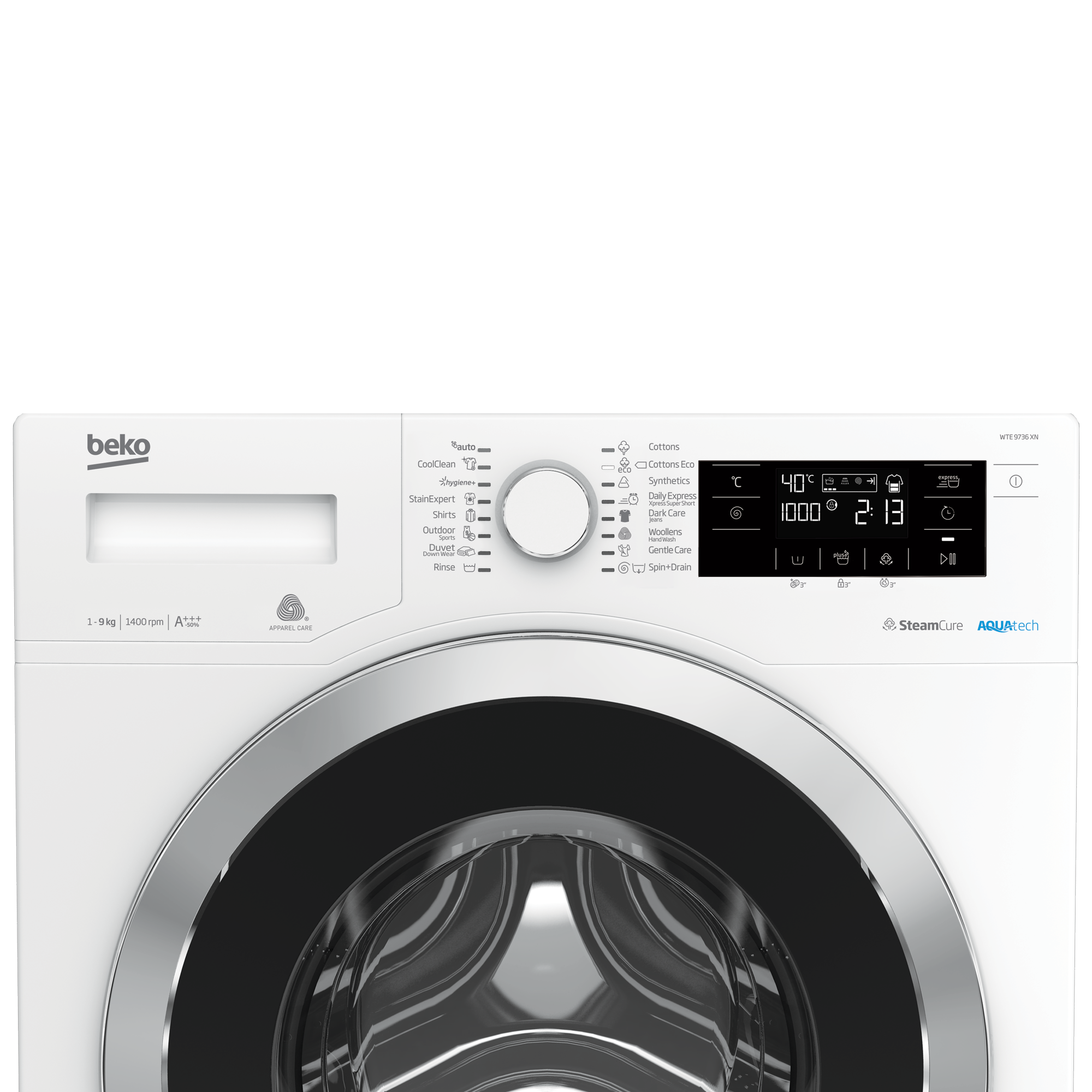 Freestanding Washing Machine (9 kg, 1400 rpm) WTE 9736 XN