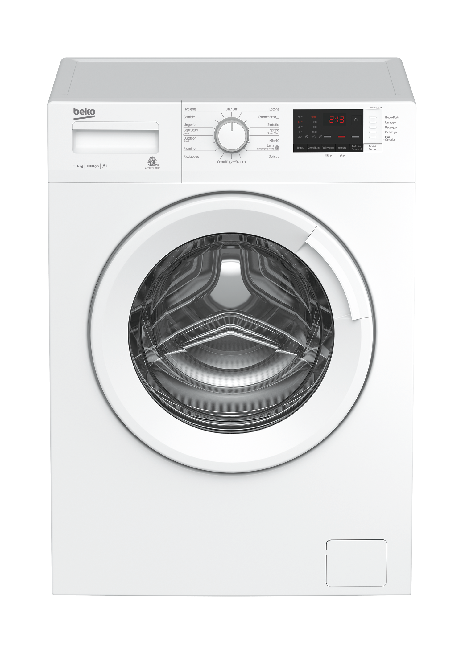 Freestanding Washing Machine (6 kg, 1000 rpm) WTX61032W