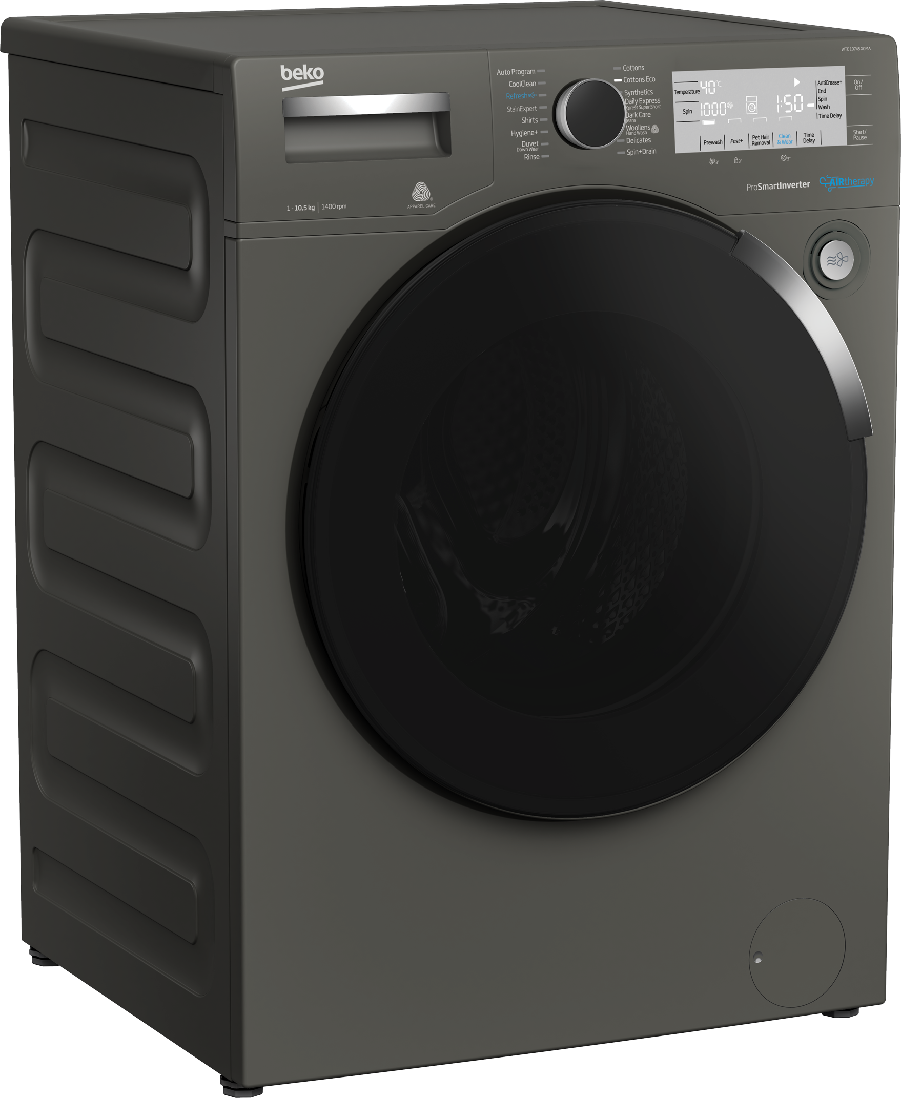 Freestanding Washing Machine (10.5 kg, 1400 rpm) WTE 10745 X0MA