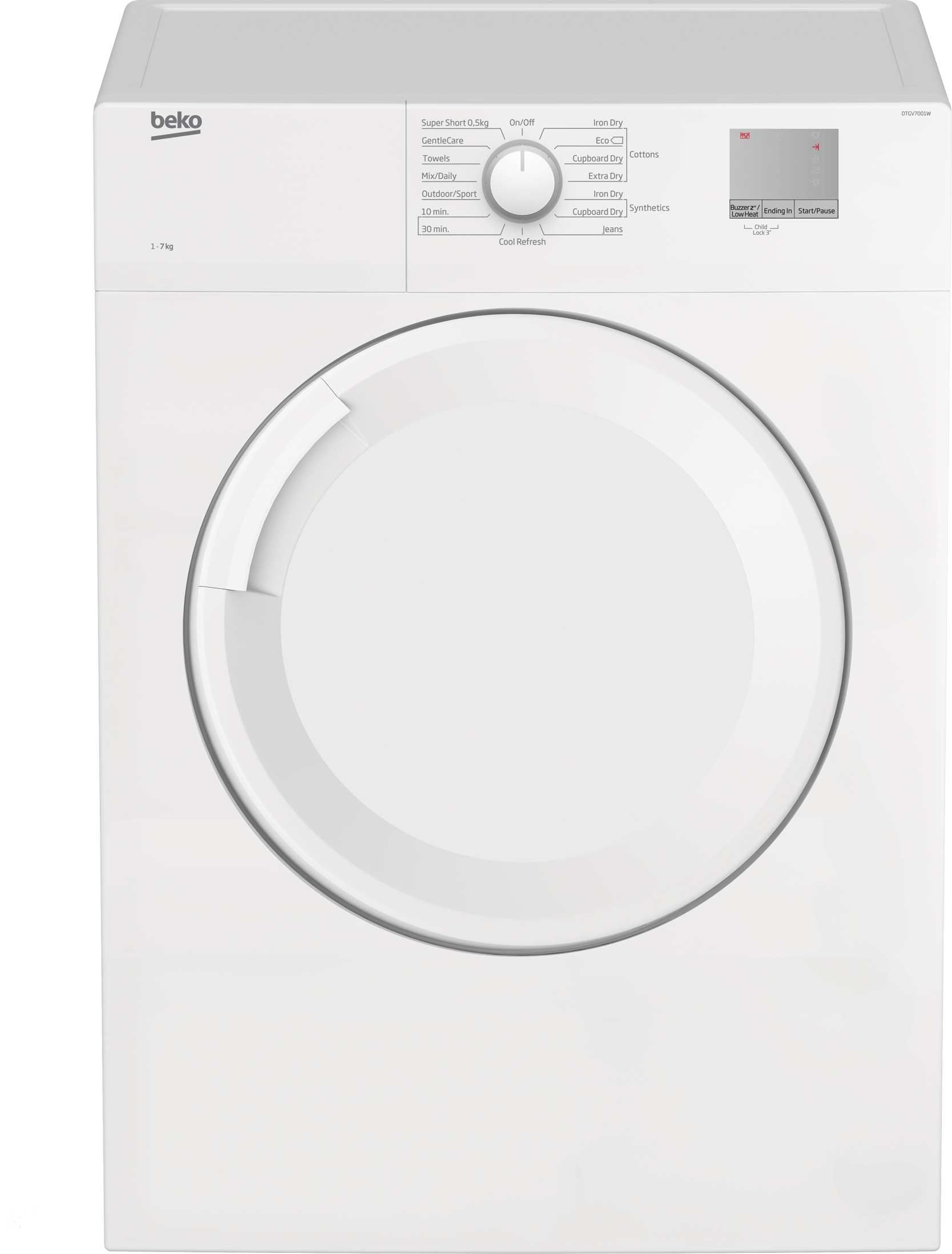 Tumble Dryer (Air Vented, 7 kg) DTGV7001W