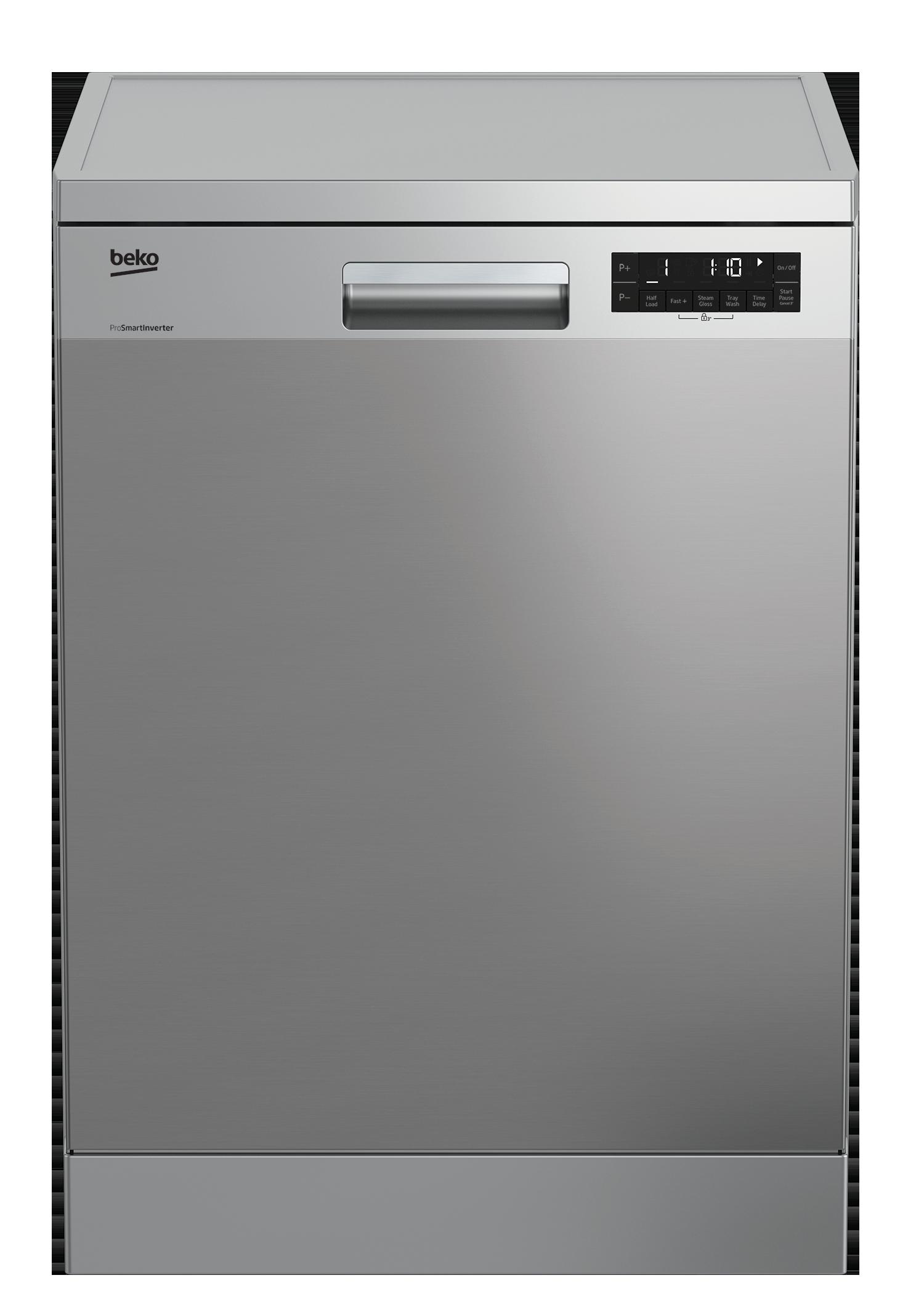 Freestanding Dishwasher 14 Place Settings Full Size Dfn28j21x Beko