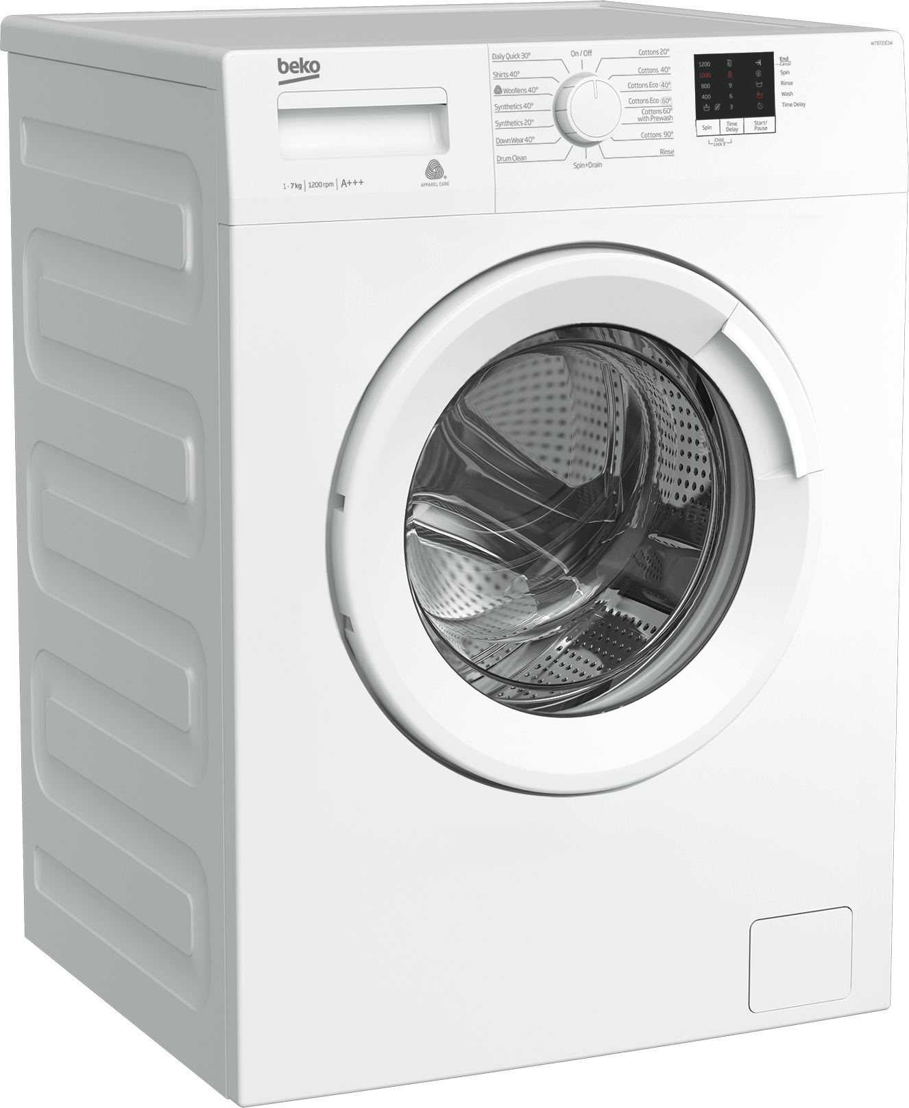 Freestanding Washing Machine (7 kg, 1200 rpm) WTB720E1W