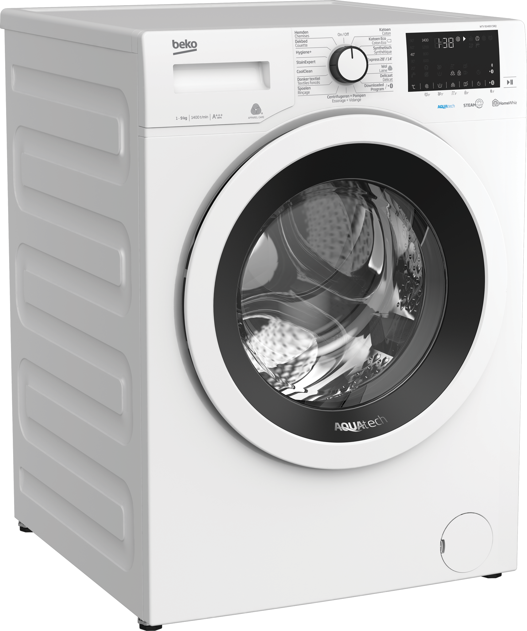 Freestanding Washing Machine (9 kg, 1400 rpm) WTV 91483 CSBQ