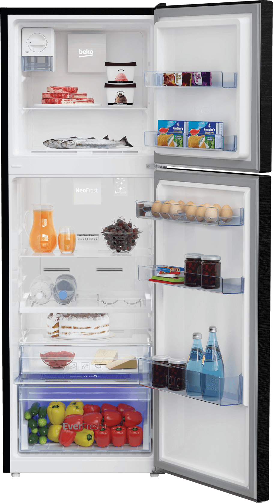 Fridge Freezer (Freezer Top, 60 cm) RDNT360E20VZWB