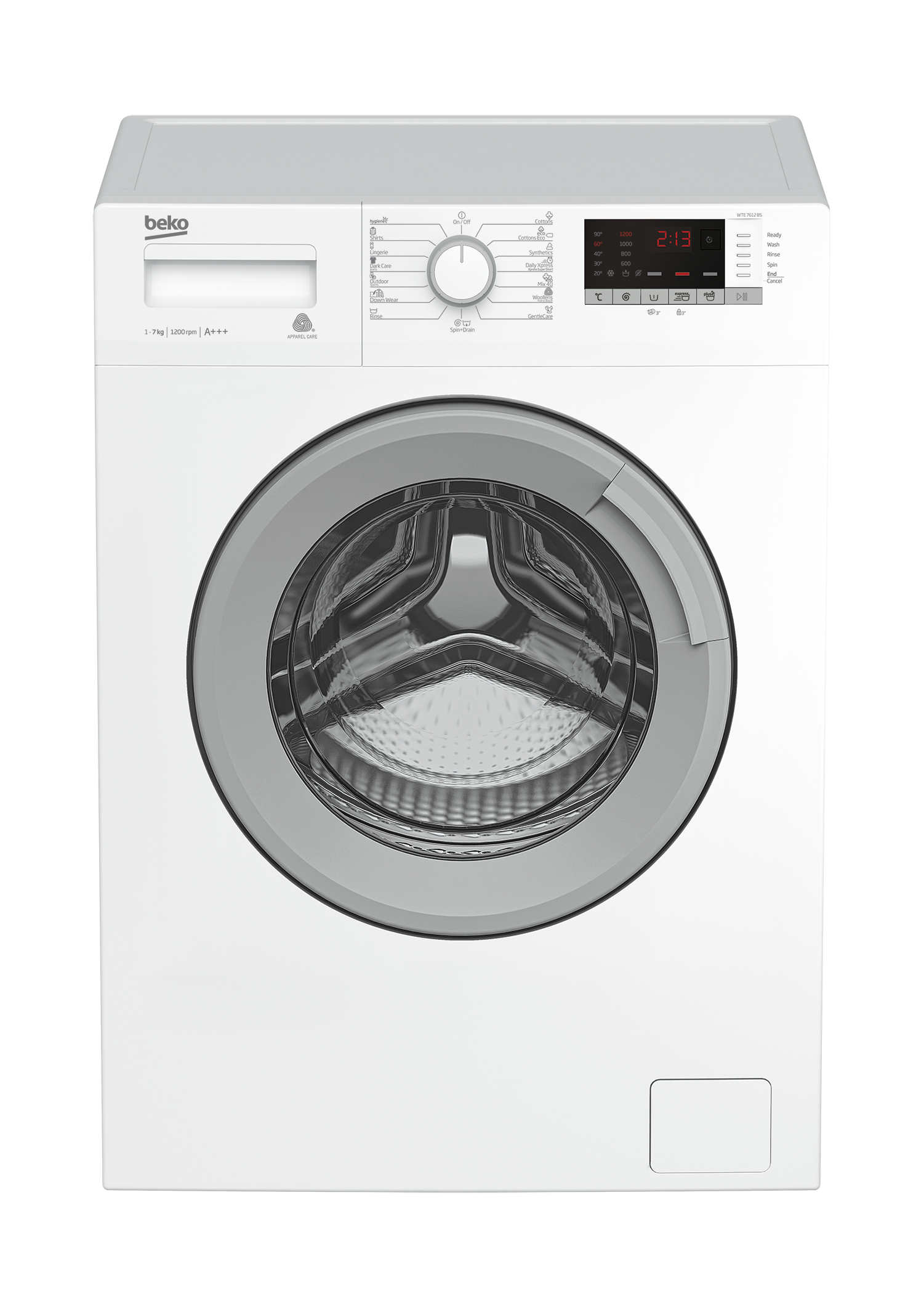 Freestanding Washing Machine (7 kg, 1200 rpm) WTE 7612 BS