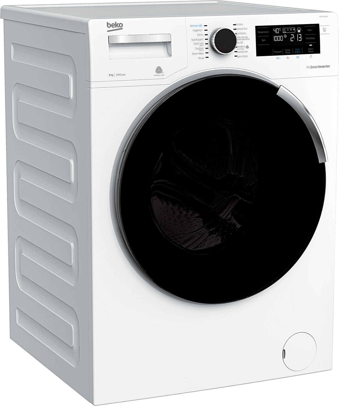 Freestanding Washing Machine (8 kg, 1400 rpm) WTV8744X0