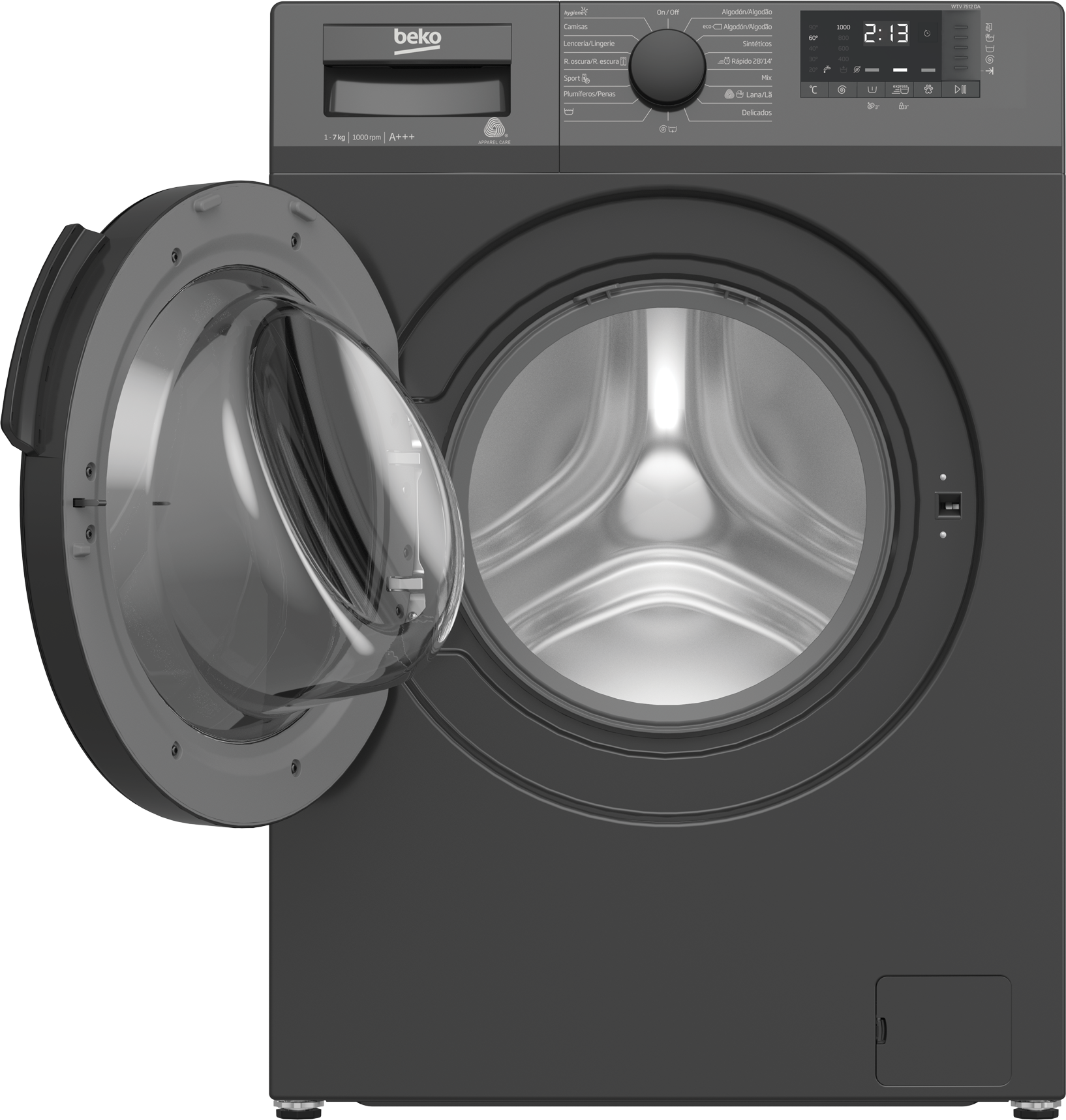Freestanding Washing Machine (7 kg, 1000 rpm) WTV 7512 DA