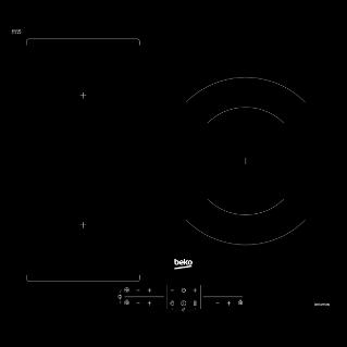 Placa vitrocerámica Beko HIC63401T con 3 zonas de cocción