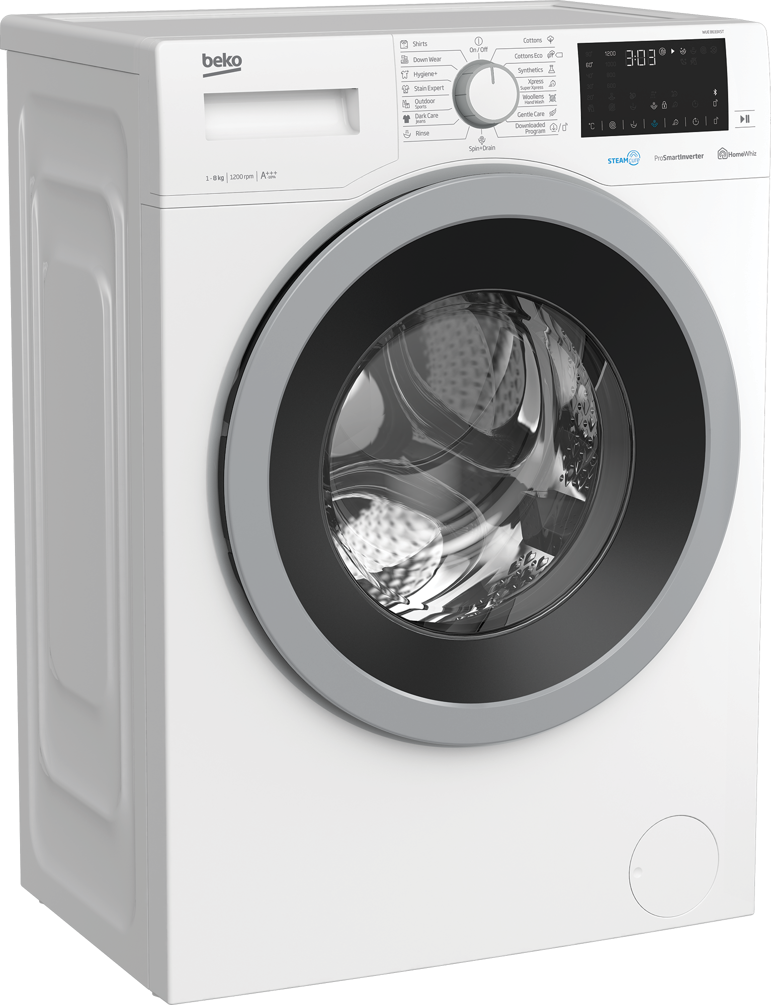 Freestanding Washing Machine (8 kg, 1200 rpm) WUE 8633XST