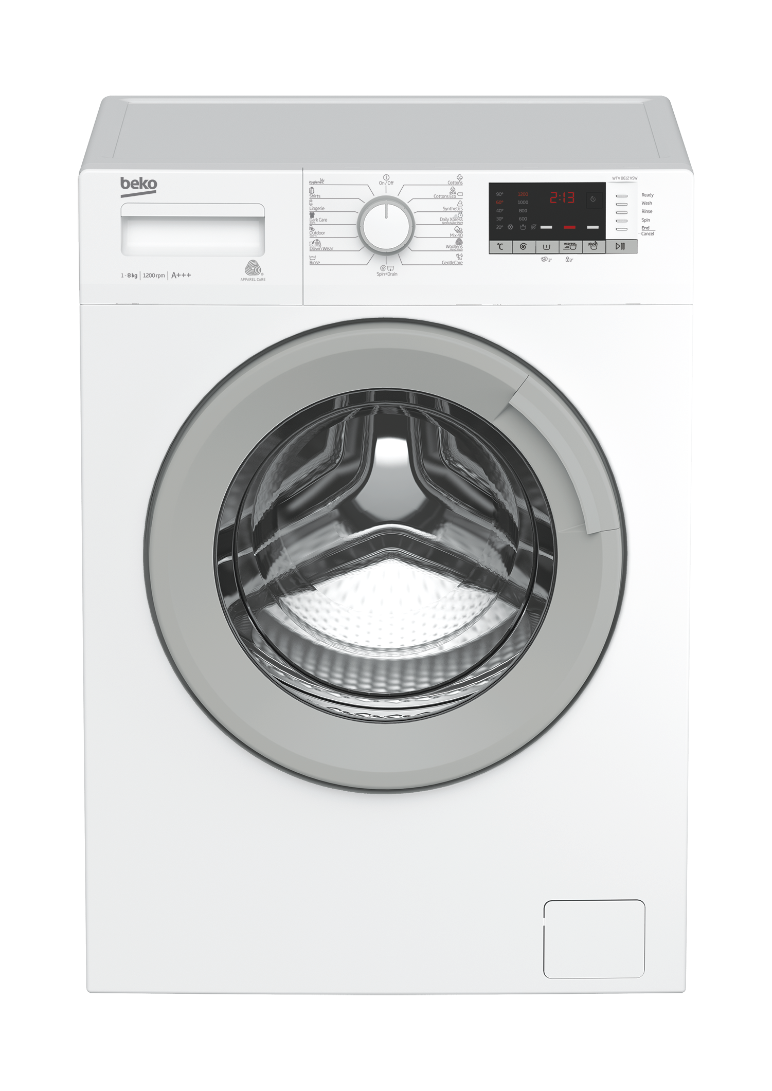 Freestanding Washing Machine (8 kg, 1200 rpm) WTV 8612 XSW