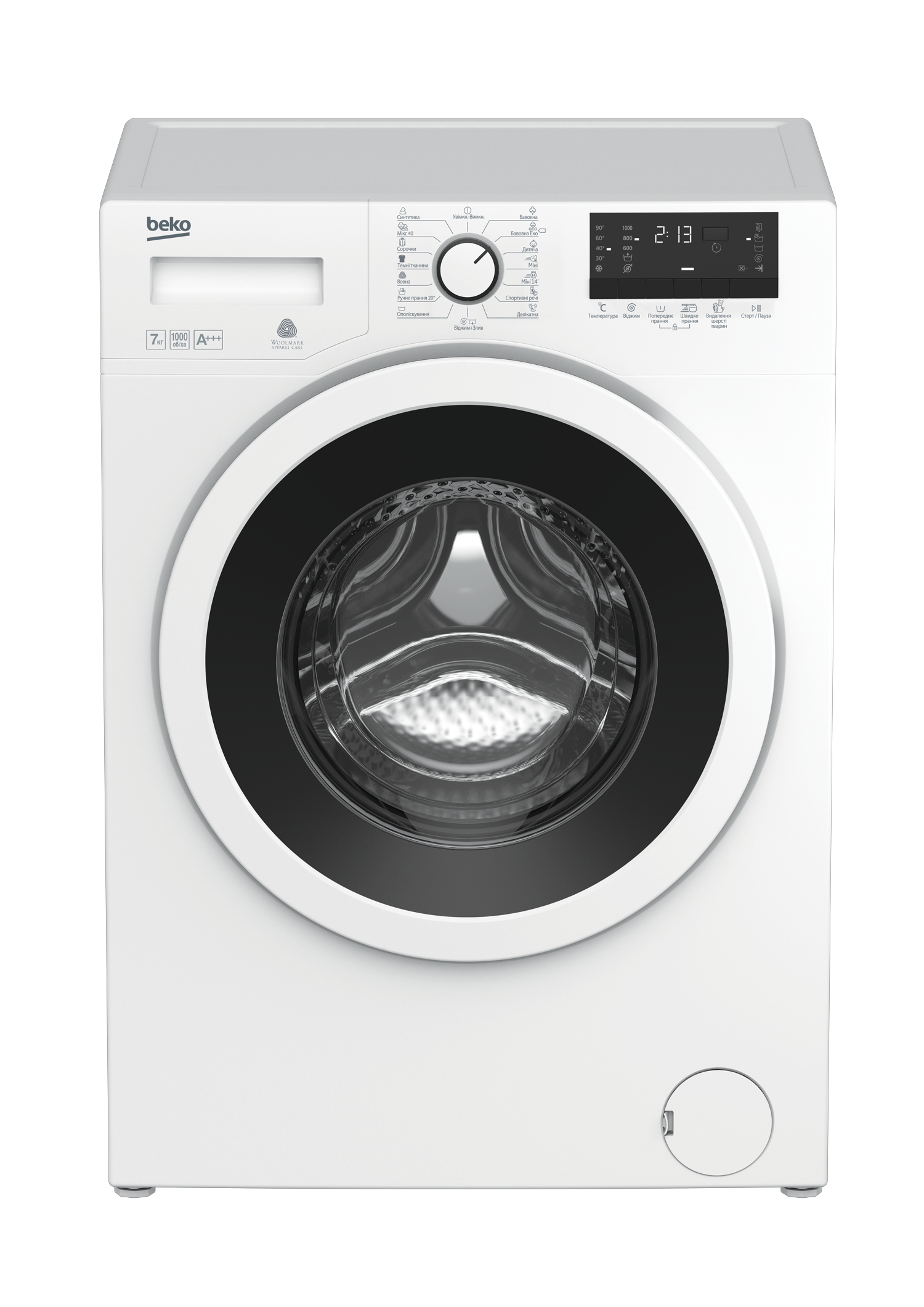 Freestanding Washing Machine (7 kg, 1000 rpm) WKY 71033 PTLY B3