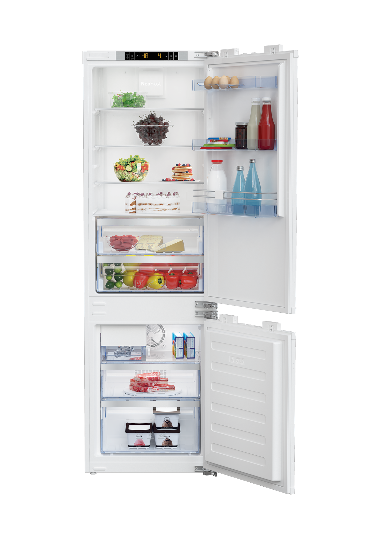 "24"" Freezer Bottom Built-In Refrigerator with Auto Ice Maker BBBF2410IM"