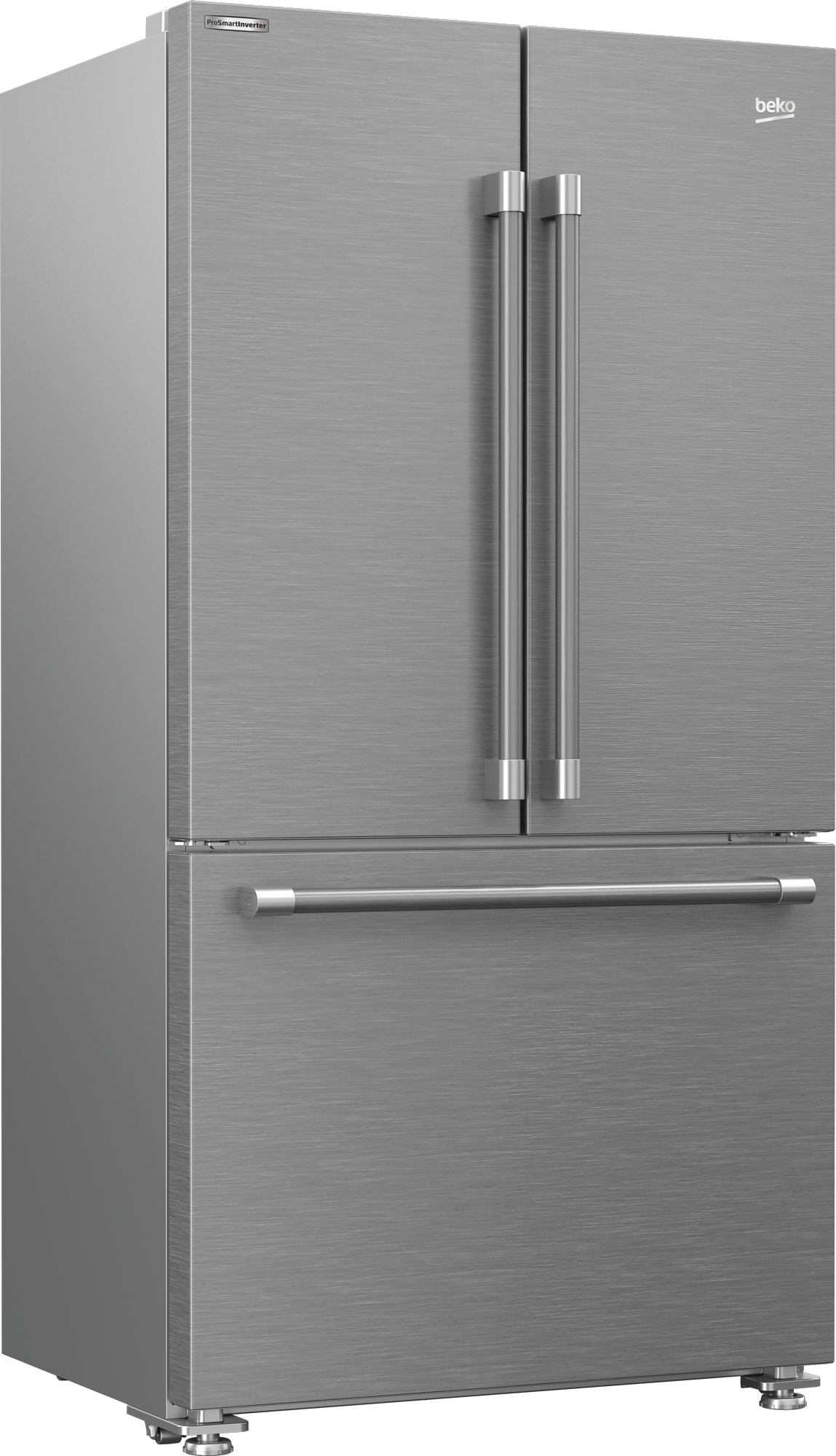 "36"" French Three-Door Stainless Steel Refrigerator with auto Ice Maker, Water Dispenser BFFD3624SS"