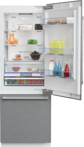 "30"" Stainless Steel Freezer Bottom Built-In Refrigerator with Auto Ice Maker, Water Dispenser BBBF3019IMWESS"