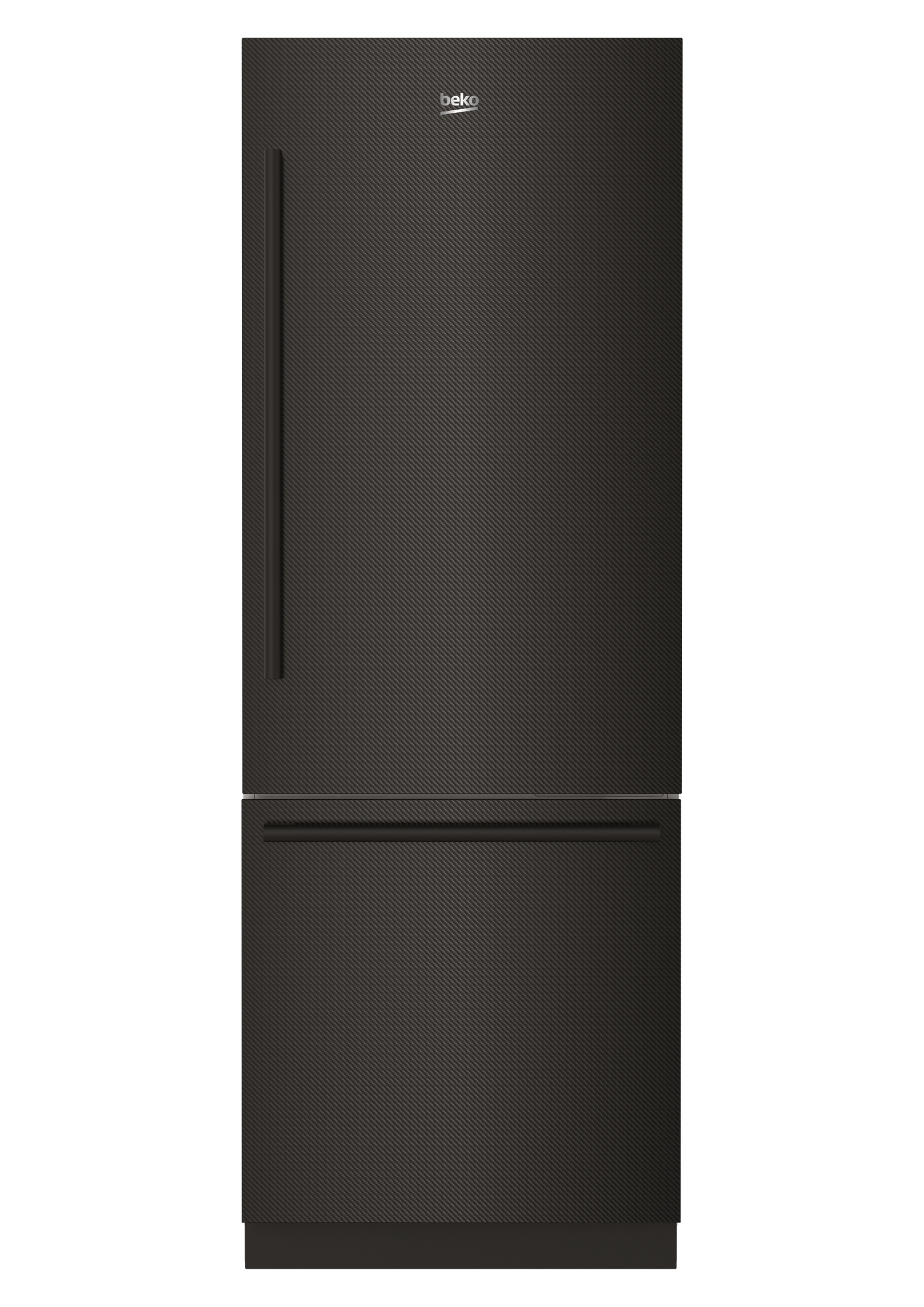 "30"" Carbon Fiber Freezer Bottom Built-In Refrigerator with Auto Ice Maker, Water Dispenser BBBF3019IMWECF"