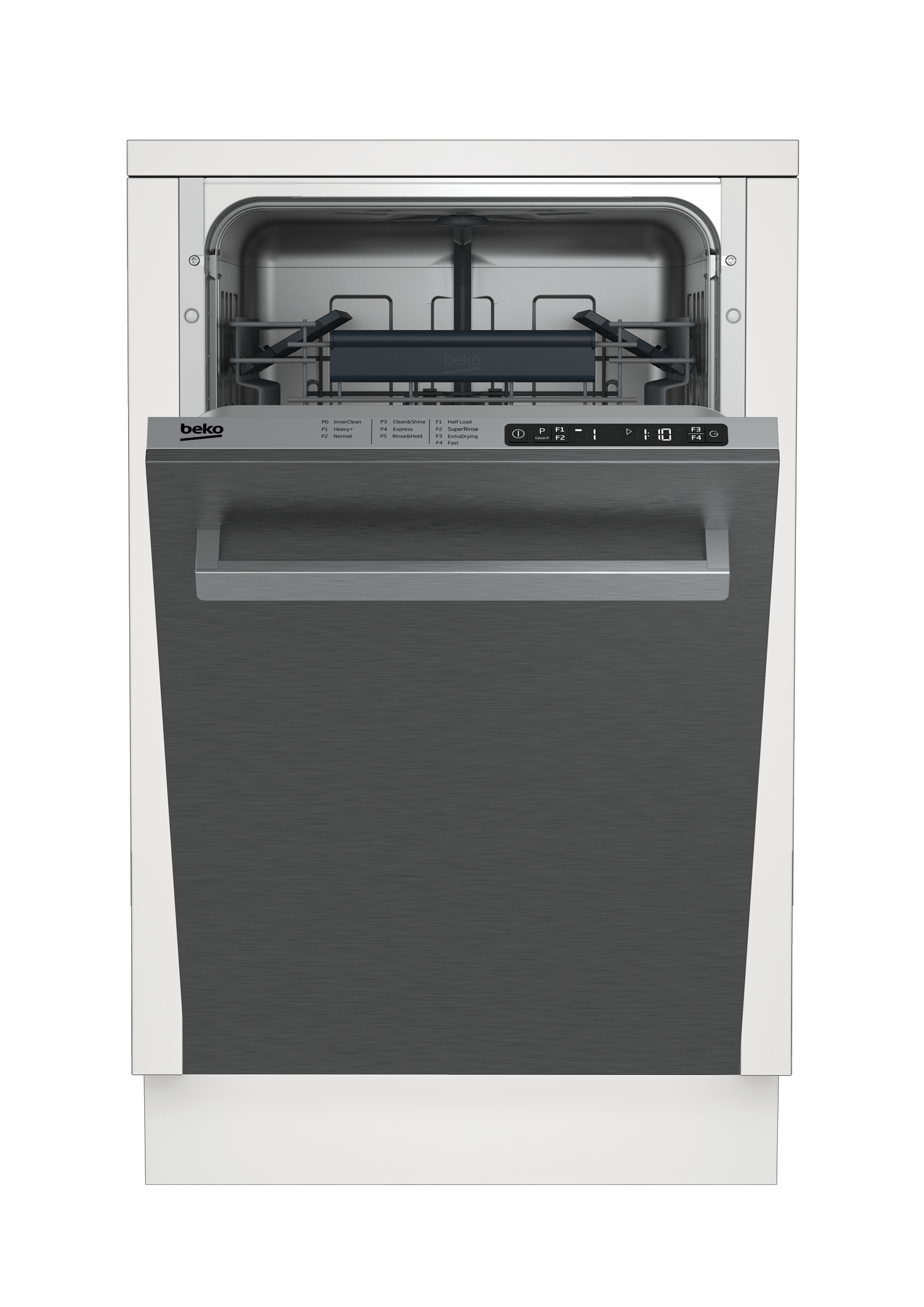 Slim Size Stainless Dishwasher, 8 place settings, 48 dBA, Top Control DDS25840X