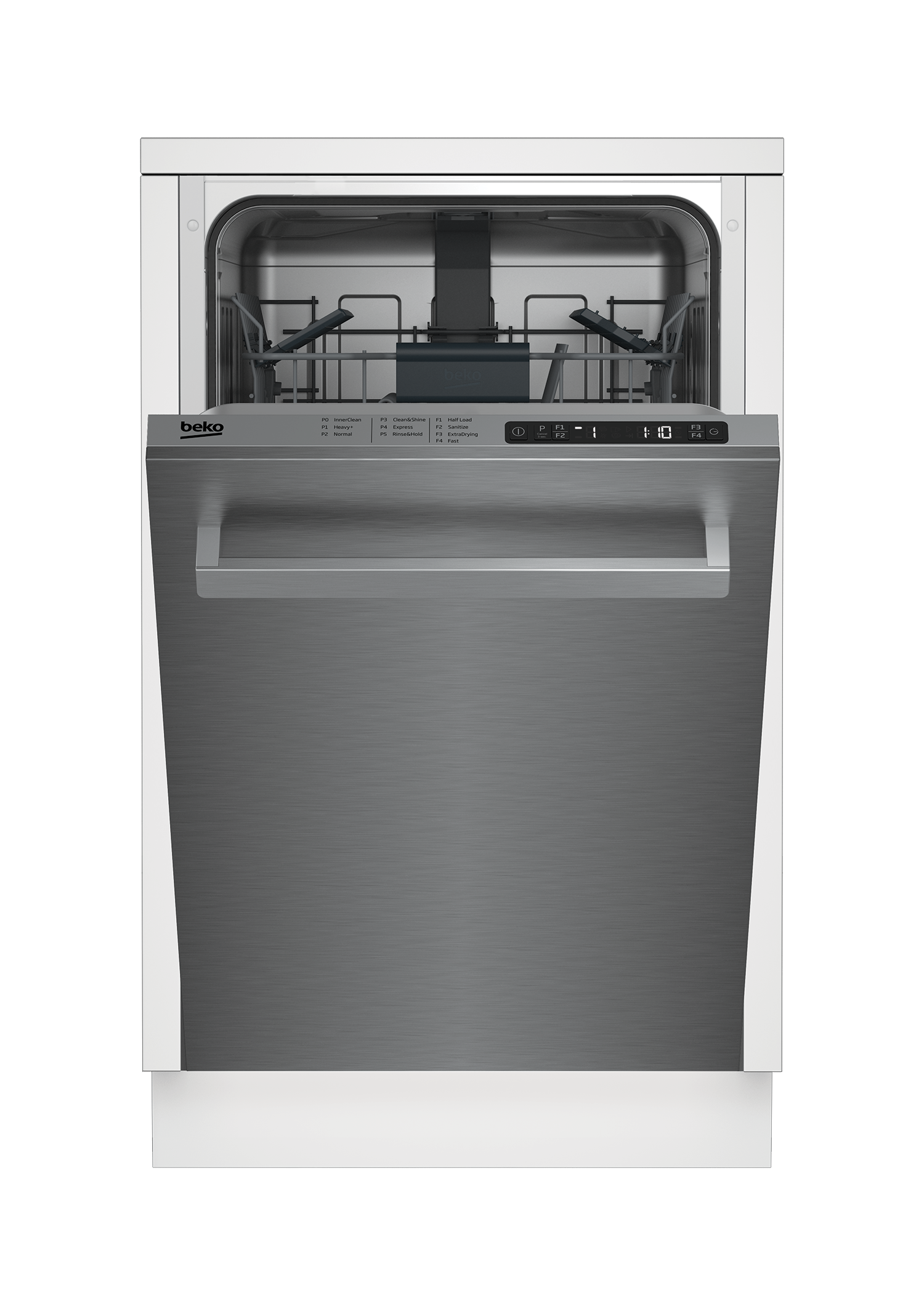 Slim Size Stainless Dishwasher, 8 place settings, 48 dBa, Top Control DDS25842X