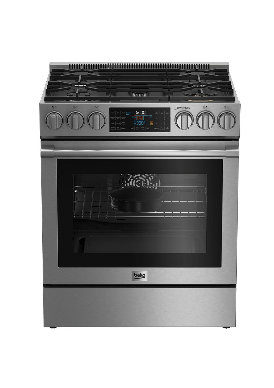 "30"" Stainless Steel Slide-In Dual Fuel Range SLDF30540SS"