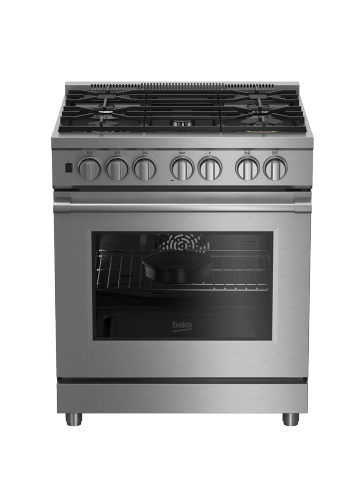 "30"" Stainless Steel Pro-Style Dual Fuel Range PRDF34550SS"