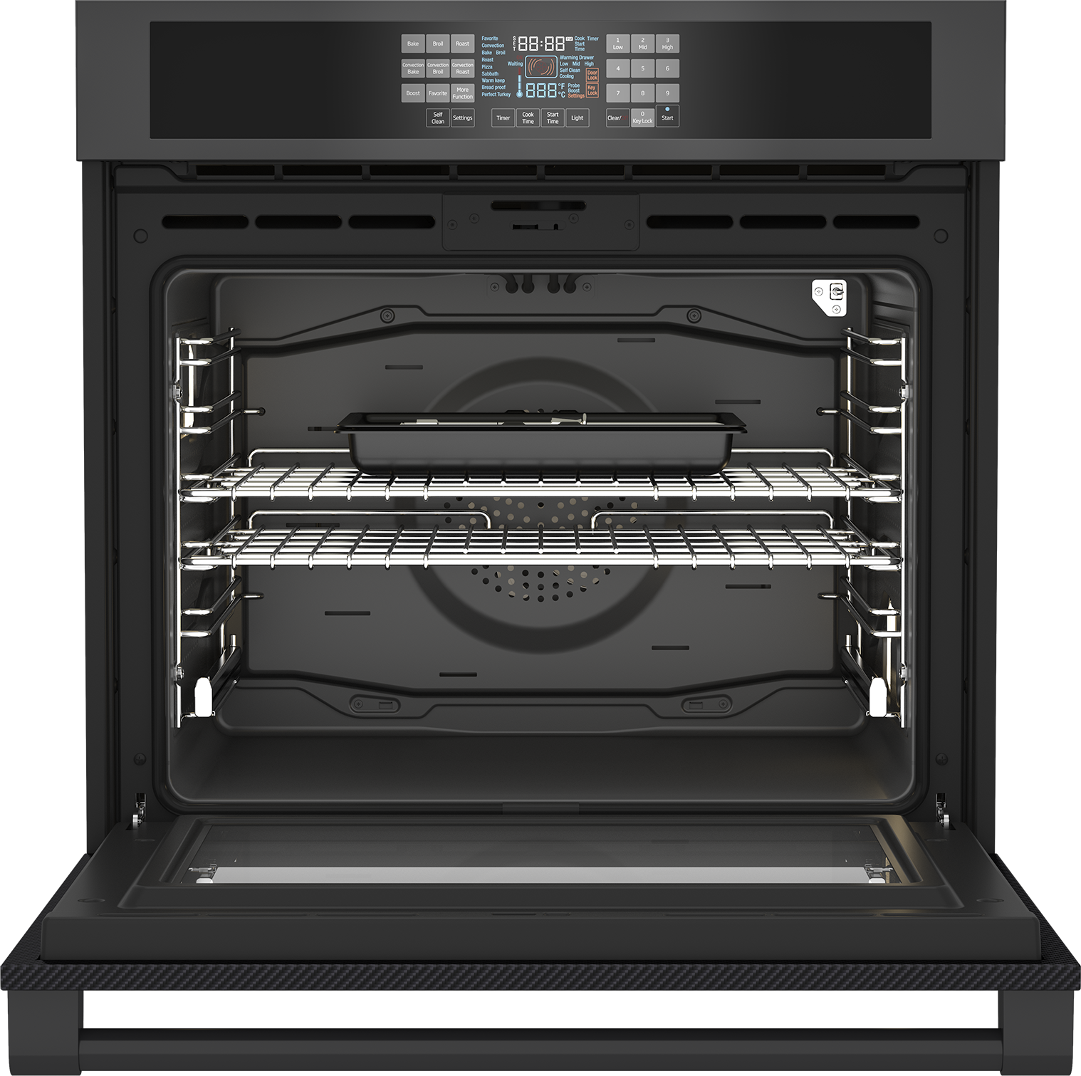 "30"" Carbon Fiber Single Wall Oven WOS30200CF"